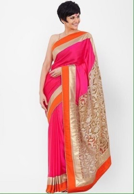 AmarTrends Embriodered Bollywood Handloom Chiffon Sari