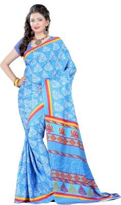 Shahlon Floral Print Daily Wear Crepe Sari