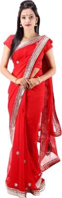 Laxmi Kripa Floral Print Fashion Handloom Georgette Sari