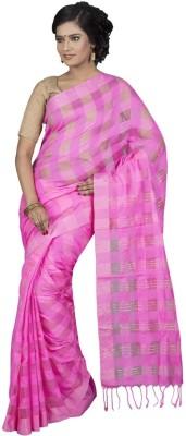 Hawai Checkered Tant Silk Sari