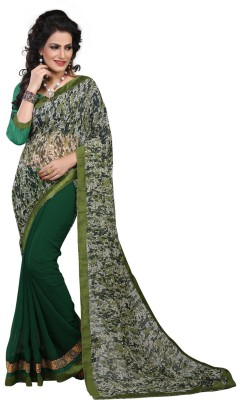 Karmafreshlooks Self Design Fashion Pure Georgette Sari