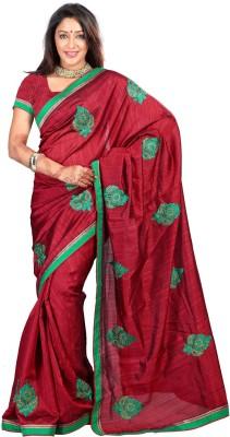 Idecore Embriodered Bollywood Silk Sari