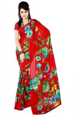 ZofeyFashion Printed Daily Wear Georgette Sari