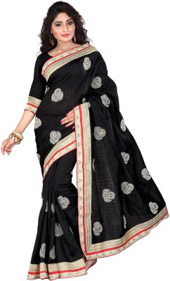 Omkarcreation Embriodered Bhagalpuri Cotton Slub Sari