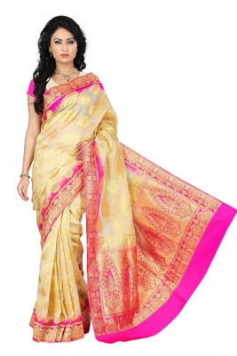 Azara Lifestyle Embellished Kanjivaram Silk Cotton Blend Sari
