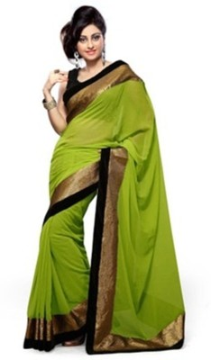 Kamelasaree Plain Fashion Georgette Sari