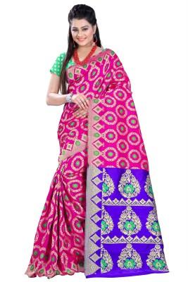 Azara Lifestyle Embellished Kanjivaram Banarasi Silk Sari