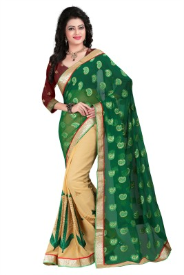 Om Fashion Embriodered Fashion Georgette Sari