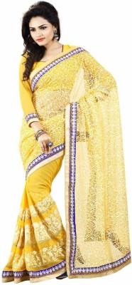 Majestic Silk Solid Fashion Chiffon Sari