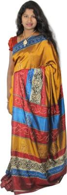 Ram Fashion Printed Daily Wear Mettalic Yarn Sari