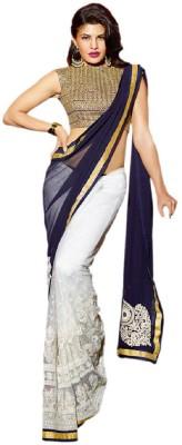 Ustaad Embriodered Fashion Chiffon Sari