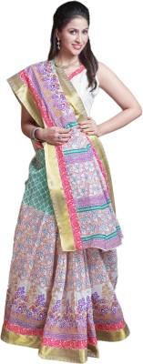 M.S.Retail Printed Gadwal Cotton Saree(Multicolor) at flipkart