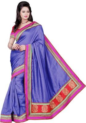Aanchal Fashion Solid Fashion Cotton Sari