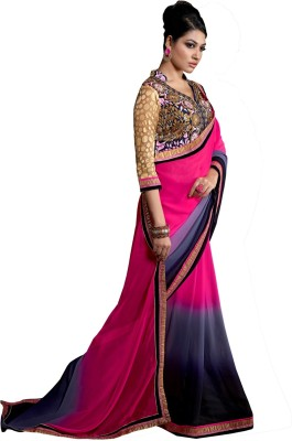Lovely Look Embriodered Daily Wear Georgette Sari