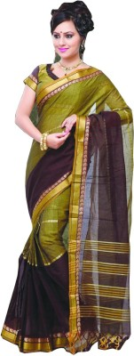 Studio Shringaar Striped Mangalagiri Art Silk Sari