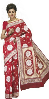 komal special Floral Print Daily Wear Cotton Sari