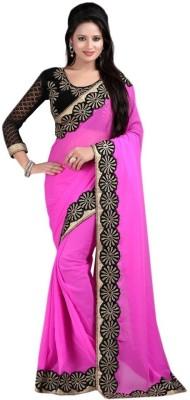 Shyam Creations Embriodered Bollywood Chiffon Sari