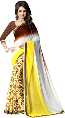 PAHAL FASHION Plain, Floral Print, Self Design Bollywood Georgette Sari