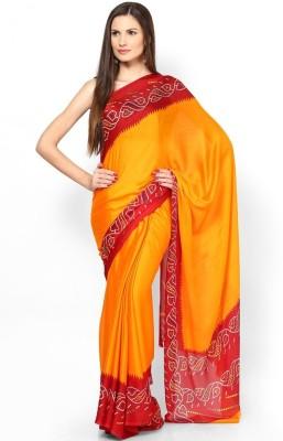 ASN Printed Bandhej Georgette Sari