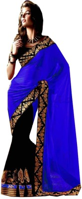 Winza Self Design, Embellished, Embriodered Bollywood Georgette Sari