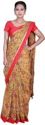 Masterweaver India Floral Print Chanderi Chanderi Sari
