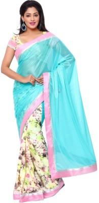 Ziyaa Self Design Fashion Crepe Sari