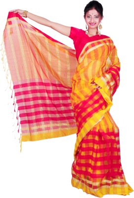 Madhushree Textiles Self Design Tant Handloom Silk Sari