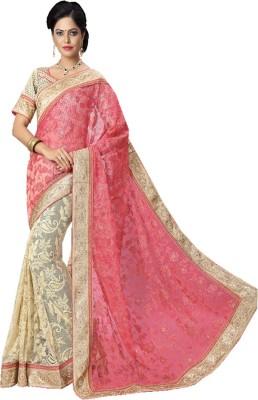 JDS FASHION Embriodered Chanderi Banarasi Silk Sari
