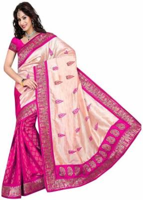 Mahadevi Self Design, Embriodered, Woven Chanderi Chanderi, Silk Sari