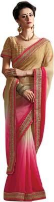 Radhika Creation Plain Fashion Georgette Sari