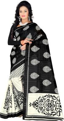 Kara Printed Bhagalpuri Silk Cotton Blend Sari