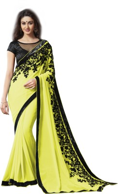 Archishmathi Embellished Bollywood Georgette Saree(Multicolor) at flipkart