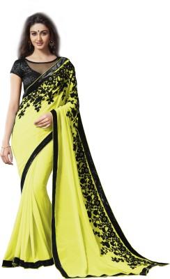 Archishmathi Embellished Bollywood Georgette Saree(Multicolor) at flipkart