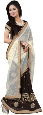 Styloshopper Embellished Fashion Georgette, Lycra Sari