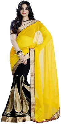 Kanha Fashionna Geometric Print Fashion Georgette Sari