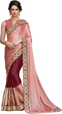 Jasleen Fashion Embellished, Embriodered Fashion Georgette, Net, Lace, Brocade, Art Silk Sari