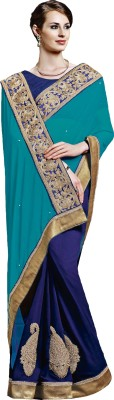 Jinaam Dress Embriodered Fashion Georgette, Chiffon Sari