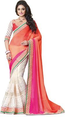 Kashish Lifestyle Self Design Fashion Handloom Georgette Sari