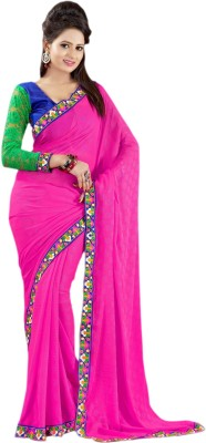 Suchi Fashion Embriodered Fashion Chiffon Sari