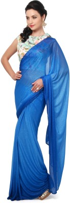 Kalki Self Design Fashion Lycra Sari