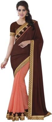 DesiButik Embellished Fashion Satin, Georgette Sari