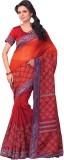 Mathura Printed Mooga Cotton Saree (Oran...