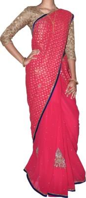 SESCO Embellished Fashion Georgette Sari