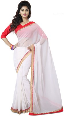 Mutiar Plain Fashion Linen Sari