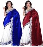 JENNY Solid Bollywood Velvet Saree (Pack...