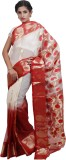 Adaab Self Design Jamdani Handloom Silk ...