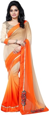 Vruticreation Embriodered, Self Design Fashion Velvet Sari