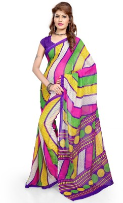 Aashita Striped Daily Wear Georgette Sari