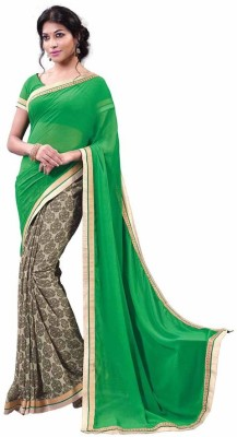 Vipul Embellished, Embriodered Fashion Georgette Sari