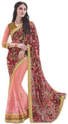 NARGIS FASHION Embriodered Fashion Brasso Sari